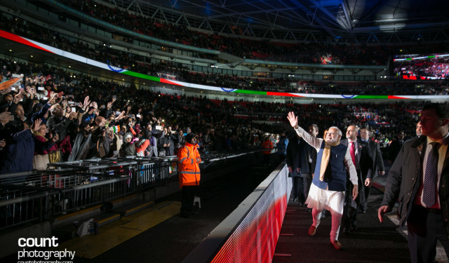 Prime Minister Modi at Wembley Stadium
